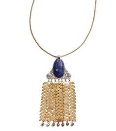 Tory Burch Stone Tassel Pendant Necklace