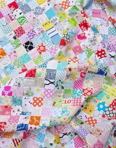 """Red Pepper Quilts: The Economy Block Quilt-Along   21/2""""x11"""" strips-- give you a 81/2""""  square block.  Notice just the lighter colors in this"""