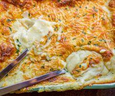 Πουρές πατάτας ογκρατέν Greek Recipes, Paella, Food And Drink, Pizza, Lunch, Vegan, Dinner, Vegetables, Cooking