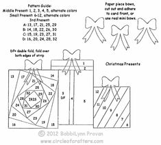 Iris Folding Patterns Free Printables | Iris Folding @ CircleOfCrafters.com: Christmas Presents