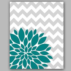 Hey, I found this really awesome Etsy listing at http://www.etsy.com/listing/159768509/instant-download-teal-flower-burst Chevron Wall Art, Teal Wall Decor, Chevron Home Decor, Gray Chevron, Diy Home Decor, Teal Rooms, Teal Walls, Teal And Grey, Teal Flowers
