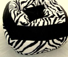 Zebra Print Pet Bed