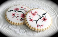 Cherry blossom cookie idea