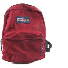 Vintage Maroon JanSport Made in USA Backpack