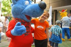 """Language diversity with its new """"Cäptn Blaubär"""" mascot in the Ministry for Education"""