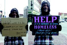 Typographic transformations of the homeless signs, via @VXLAB   space . identity . product blog