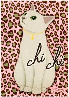 Jetoy Choo Choo Cat Postcard: Chi Chi