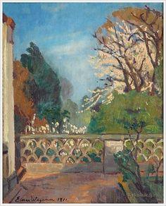 Einar Mogens Wegener (Danish, 1882-1931) «Udsigt fra en terrasse» 1912