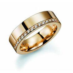 Vielsesring i guld med diamanter - Tropic Trinidad ct - bryllupsbutiken Marriage Goals, Trinidad, Wedding Gifts, Gold Rings, Rings For Men, Tropical, Bangles, Rose Gold, Jewels