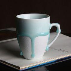 """Unique """"Dripping Liquid"""" Porcelain Mug"""