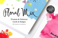 Floral Mix (Jpeg&PNG) by SoNice on @creativemarket