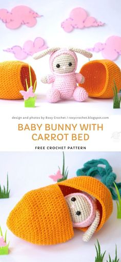It's a great project for advanced beginners, that uses very little yarn, so it's a great way to use any leftovers that you have. Lovely gift for both kiddos and adults! Crotchet Patterns, Crochet Cardigan Pattern, Crochet Patterns Amigurumi, Crochet Dolls, Crochet Rabbit, Crochet Food, Cute Crochet, Crochet Baby, Holiday Crochet