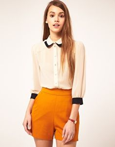 Blouse With Double Collar