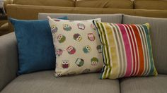 Here's just a few of our new adorable range of cushions - we've got candy stripes, bright colours and owls. Because who doesn't like owls? £9.99 each or £35 for a set of 4