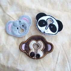 ANIMAL Belly Shape Button Covers G-Tube J-Tube Cecostomy