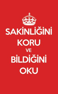 "In Turkish: ""Keep yourself calm, do whatever you have decided to do without paying attention to what others say"" #keepcalmandcarryon"