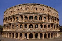 The Colosseum in Rome. The Colosseum was the foundation for the stadiums that we have today. The Colosseum is like our baseball and football stadium. The Colosseum was used for entertainment. In Ancient Times, Ancient Rome, Ancient Greece, Rome Pictures, Rome History, Ancient History, Architecture Classique, Roman Architecture, Famous Architecture