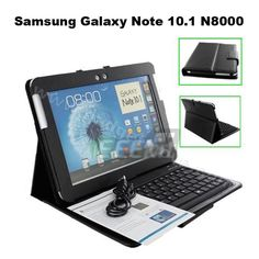 Samsung Galaxy Note 10.1 Tablet, Leather Case and Bluetooth Keyboard