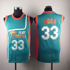 Jackie Moon Flint Tropical Throwback Jerseys 33  Retro Basketball Movie  Jersey Cool Shirt Stitched Jersey Man White Green 923df8dcd