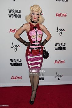 Violet Chachki arrives at the Logo TV's 'RuPaul's Drag Race' Season Finale Event at the Orpheum Theatre on May 19, 2015 in Los Angeles, California.