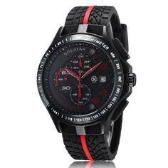 Fashion Outdoor Men Boy Sports Watches Quartz Multifunction Waterproof Military Watch silicone Dress Wristwatches
