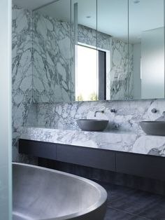 Power Street bathroom by Steve Domoney Architecture. Chic and sophisticated