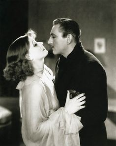 With John Barrymore in GRAND HOTEL (1932).