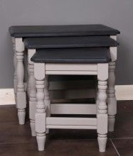 Nest of Tables painted in Country Grey and Graphite