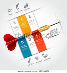 Business concept infographic template. Business target marketing dart idea. Can be used for workflow layout, banner, diagram, web design.