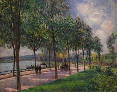 fleurdulys:  Alley of Chestnut Trees - Alfred Sisley