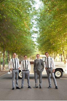 groomsmen in narrow bottom pants...! It suits...!