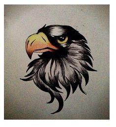 Eagle drawing, I tried haha #eagle #drawing