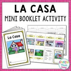 This is a Spanish mini booklet activity with vocabulary about La Casa (The House). This is a great hands-on activity to help students learn the rooms of the house in Spanish. Foreign Language, French Language, World Languages, Bilingual Education, Hands On Activities, Student Learning, Booklet, Vocabulary, Make It Simple