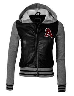 MBJ Womens Faux Leather Zip Up Moto Jacket With Hoodie - Listing price: $28.56 Now: $19.99