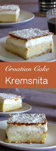 Croatian kremsnita recipe