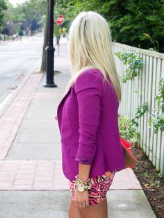 Pleasantville Blazer: F21 {similar} | Shirt/Belt: Joe | Shorts: Target {loving these} | Oxfords: Aldo Bag: H&M | Sunnies: Gucci | Watch: Michael Kors Bracelets: H&M, Jcrew, F21 | Necklace: F21
