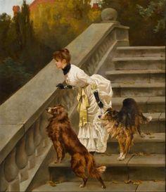 Arthur Wardle, (British, 1864-1949) Waiting for Master