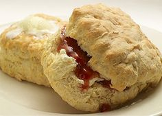 Sweet Maple Café's Biscuits with Butter and Jam