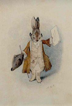 Presentamos hoy unos dibujos bastante raros, para lo que en ella era habitual, de Beatrix Potter, la célebre dibujante de cuentos inglesa. Eran dibujos preparatorios perdidos en una de sus carpetas…