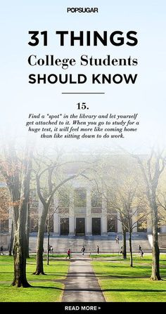 31 Things Every College Student Needs to Know