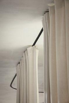 * Office environment using curtain partition [ dekleva gregoric architects ] … - Modern Interior Windows, Interior And Exterior, Interior Design, Rideaux Design, Curtains With Blinds, Office Curtains, Ceiling Curtains, Gypsy Curtains, Burlap Curtains