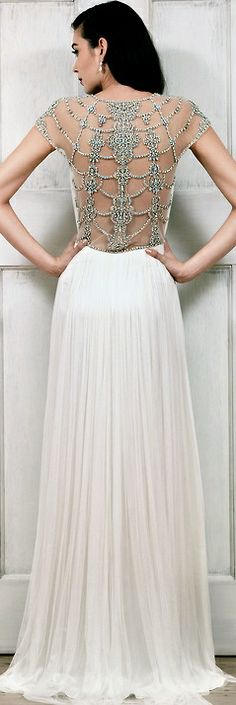 the detail on the back of this wedding dress is stunning! Catherine Deane - Tallulah