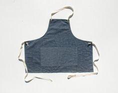 APRON no. 1  organic cotton/hemp grey canvas