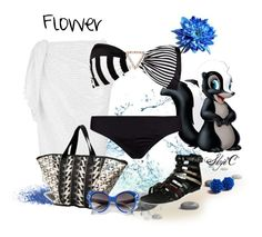 Outfit inspired by the character Flower from Disney's Bambi. Disney Inspired Fashion, Disney Fashion, Disney Bathing Suit, Elizabeth Hurley Beach, Character Inspired Outfits, Disney Bound Outfits, Beach Attire, Casual Cosplay, Themed Outfits