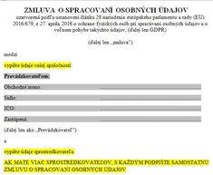 Dokumentácia | GDPR