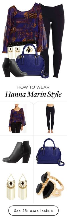 """Hanna Marin inspired outfit with yoga leggings"" by liarsstyle on Polyvore featuring Beyond Yoga, Romeo & Juliet Couture, Merona, Charlotte Russe, River Island, NightOut and mid"