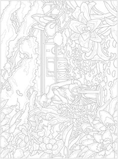 Welcome to Dover Publications - Creative Haven Glorious Gardens Color by Number Coloring Book Dover Coloring Pages, Garden Coloring Pages, People Coloring Pages, Blank Coloring Pages, Free Adult Coloring Pages, Coloring Sheets, Colorful Drawings, Colorful Pictures, Color By Number Printable
