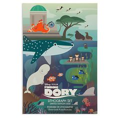 Finding Dory Lithograph Set - Limited Edition | Disney Store