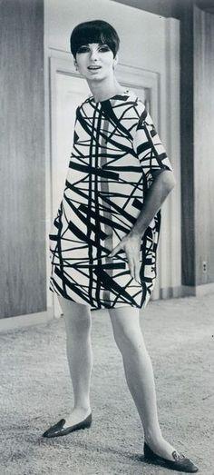 Abstract silk dress by Rudy Gernreich 1960's