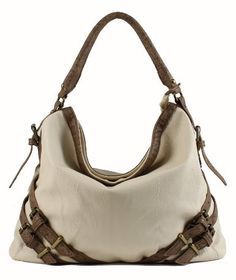 Scarleton Large Hobo H1065 - Ivory on amazon today for just $29.99 & eligible for FREE Shipping find it here http://amzn.to/17AyRVm see more great bags at http://www.ddsgiftshop.com/shoes-and-handbags